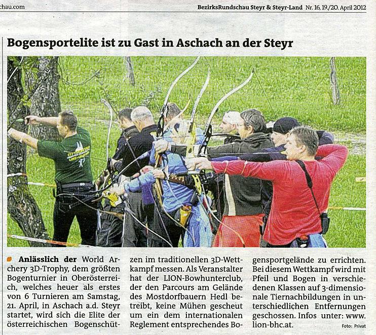 Bogensportelite ist zu Gast in Aschach/Steyr