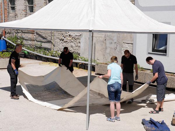 Testaufbau unserer neuen Zelte