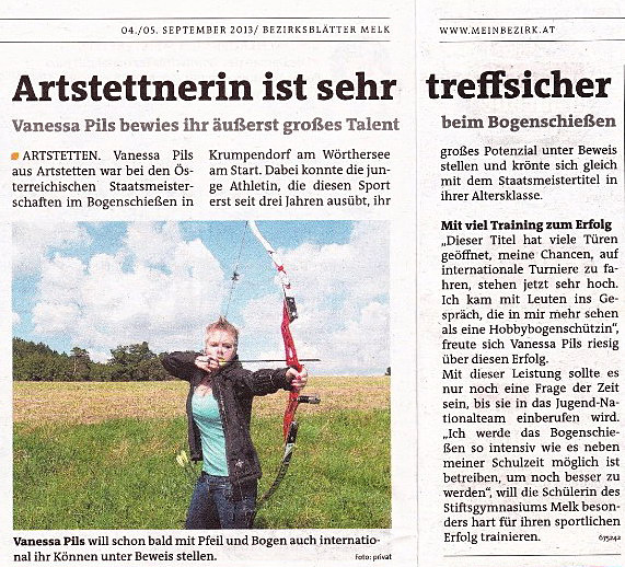Vanessa Zeitungsartikel 050913